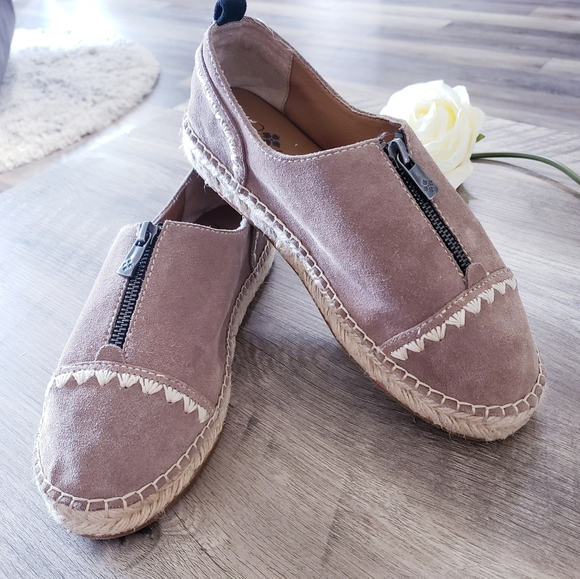 Patricia Nash Eva Suede Espadrille Taupe Shoes